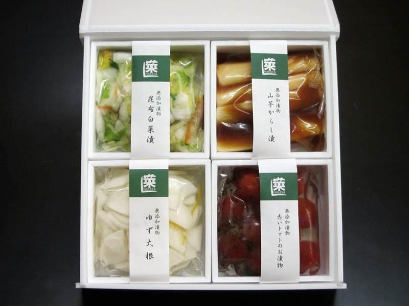 画像1: 【☆送料込ギフト☆】菜香やの箱入り4種ギフトセット (1)