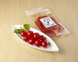 画像1: 菜香や■えっ!ミニトマトを漬物に?漬け汁ごとドレッシングに出来る「あかいトマトのおつけもの」 (1)